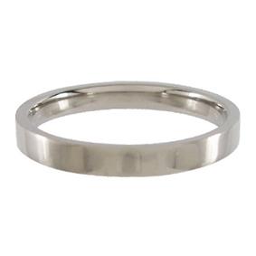 Titanium Wedding Ring Flat Polished 3mm wide