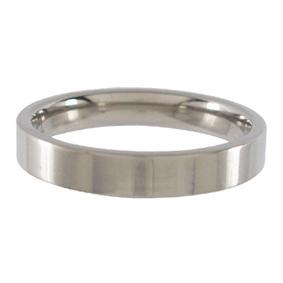 Titanium Wedding Ring Flat Polished 4mm wide