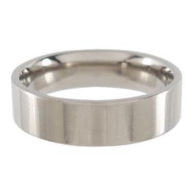 Titanium Wedding Ring Flat Polished 6mm wide