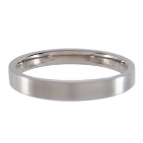 Titanium Wedding Ring Flat Brushed 3mm wide