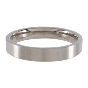 Titanium Wedding Ring Flat Brushed 4mm wide