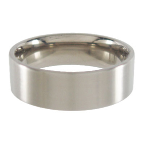 Titanium Wedding Ring Flat Brushed 7mm wide
