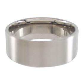 Titanium Wedding Ring Flat Brushed 8mm wide