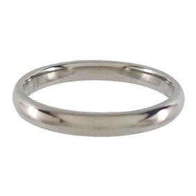 Titanium Wedding Ring Half-round Polished 3mm wide