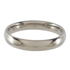 Titanium Wedding Ring Half-round Polished 4mm wide