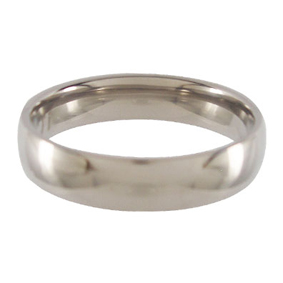 Titanium Wedding Ring Half-round Polished 5mm wide