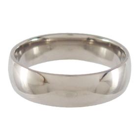 Titanium Wedding Ring Half-round Polished 6mm wide