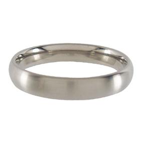 Titanium Wedding Ring Half-round Brushed 4mm wide