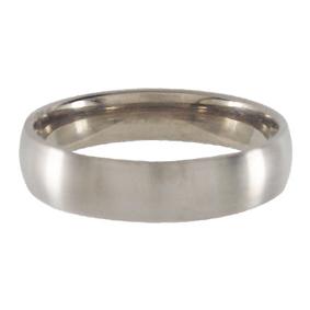 Titanium Wedding Ring Half-round Brushed 5mm wide