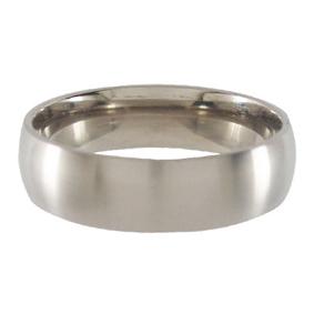 Titanium Wedding Ring Half-round Brushed 6mm wide