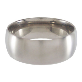 Titanium Wedding Ring Half-round Brushed 8mm wide