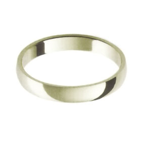 White Gold Wedding Ring with Half-Round Profile 3mm wide